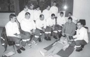 erste AED-Ausbildung im Kreis Altenkirchen (2001)