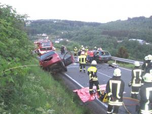 Verkehrsunfall L 281 oberhalb Elben (2011)